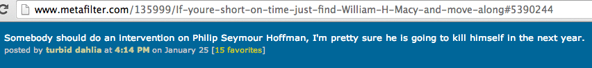 Philip Seymour Hoffman heroin addict