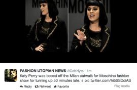 Katy Perry 'Shut the f*ck up @ Moschino Runway