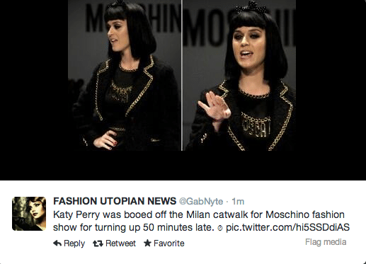 Katy Perry Moschino Runway
