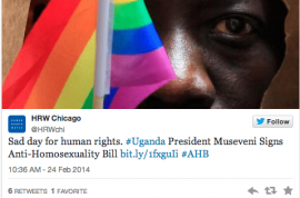 Uganda anti gay law signed off by President Yoweri Museveni. Tears of joy amongst locals.