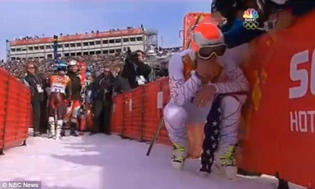 Bode Miller crying