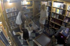 Columbia University topless women reckon they were only filming feminist flick.