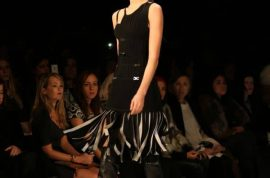 Herve Leger Fall 2014 by Max Azria: Dominatrix strapped themes