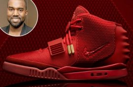 Kanye West Red October sneakers yours for $16.3 million on Ebay.