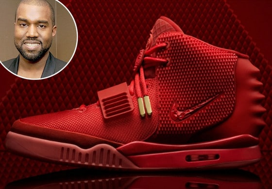 Kanye West Red October sneakers