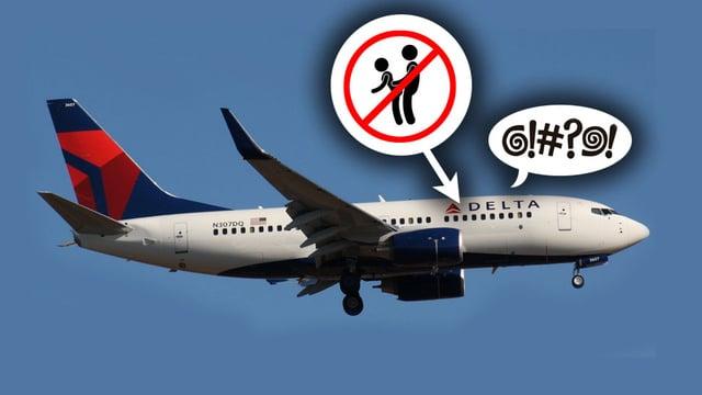 Drunk Delta Airlines female passenger