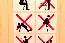 Here are the rules for Sochi Bathrooms Winter Olympics. No fishing.