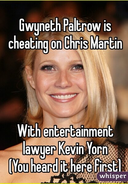 Gwyneth Paltrow cheating