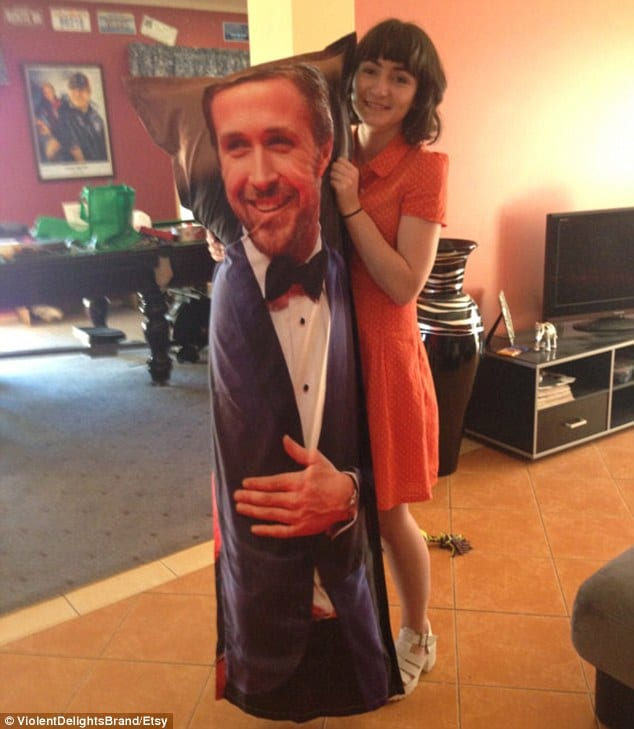 Ryan Gosling life sized pillow