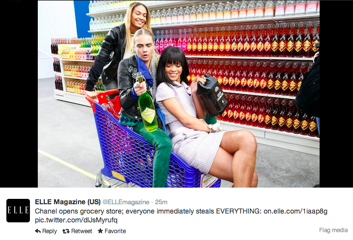 Supermarket sweep Chanel