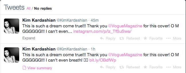 Kim Kardashian Vogue cover