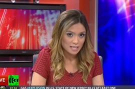 Anchor Liz Wahl resigns on air to protest Russian incursion of Ukraine.