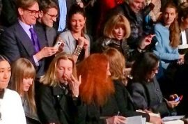 Anna Wintour Valentino second row crises. Will her ego manage?