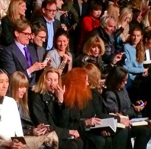 Anna Wintour Valentino second row