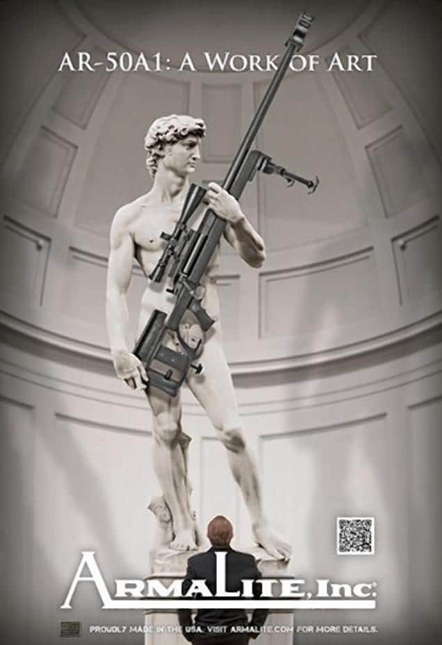 Michelangelo's Davis holding a gun