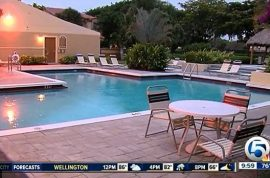 Off duty cop shoots man having sex with woman in pool.