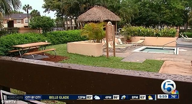 Off duty cop shoots man having sex with woman in pool