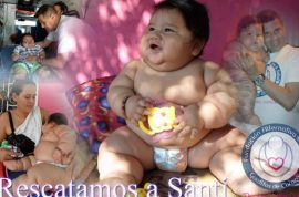 Columbia's fattest baby rescued by Chubby Hearts charity.