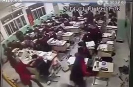 Here's a video of Chinese schoolboy leaping to his death. The pressure of status.