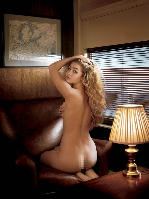 Gigi Hadid nude for VMan magazine