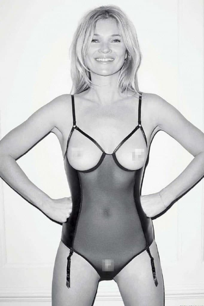 Kate Moss naked for Lui magazine
