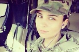 Kayla Reyes, female army veteran denied Macy's job cause she served in Afghanistan.