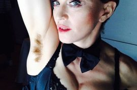 Madonna Instagram of a hairy armpit makes the internet lose its mind.