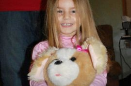 Mia Derouen, 4 year old girl killed by family pit bull. Trained to fight.
