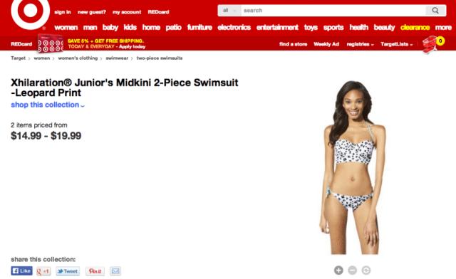 Target photoshops a models vagina