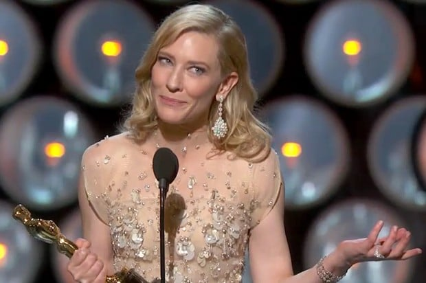 Cate Blanchett thanked Woody Allen