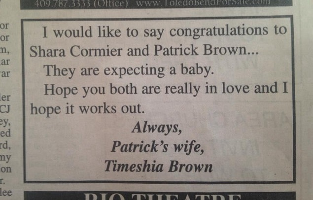 Wife takes out ad against husband