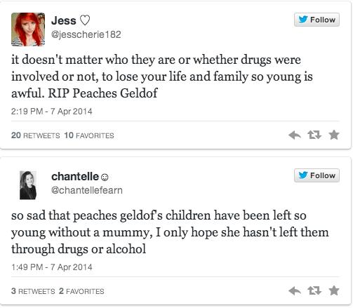 Peaches Geldof overdose