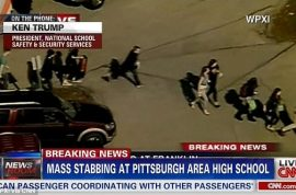 Why were 20 students injured in stabbings at Pennsylvanian high school?