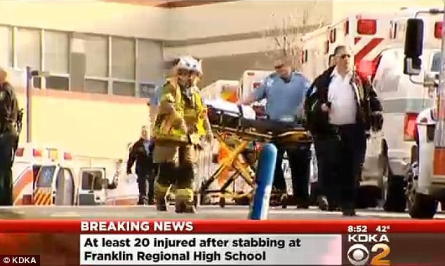 20 students injured in stabbings at Pennsylvanian high school