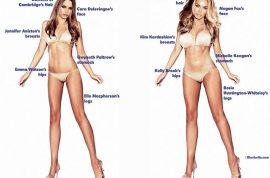 Preferred body types: Men love Kim Kardashian's curves while women want Emma Watson's slim hips