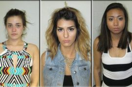 Twerking suspects arrested after peeing in public, drugs found too.