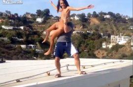 Video: Instagram's Dan Bilzerian throws a porn star onto cement and breaks her foot