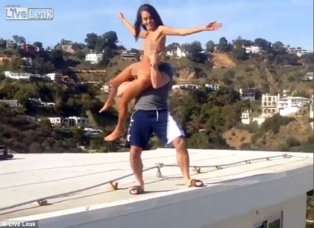 Dan Bilzerian throws a porn star