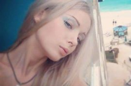 Human Barbie Valeria Lukyanova selfie. But where's the make up?