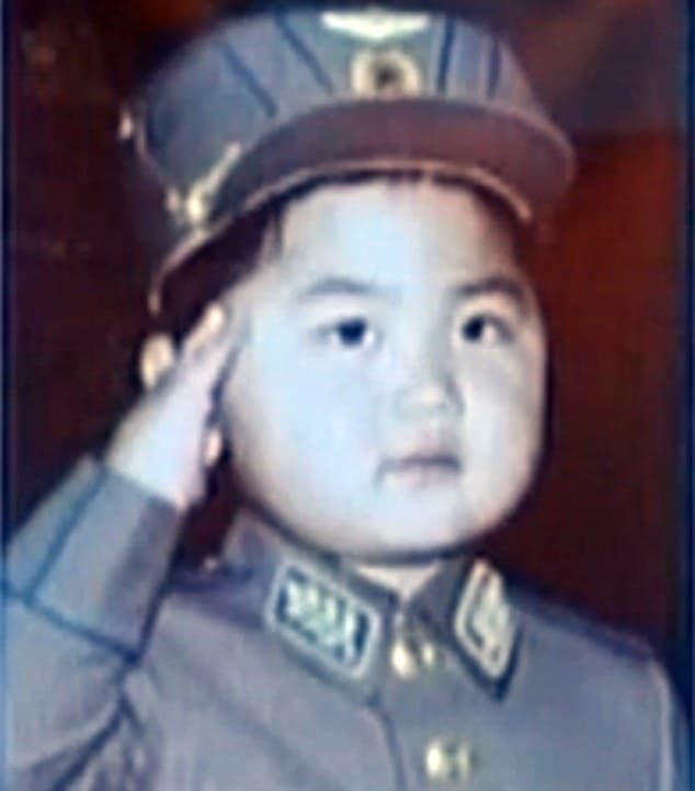 Kim Jong-un pictures as a child