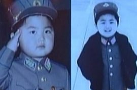 Kim Jong-un pictures as a military child are released. Propaganda with chills.