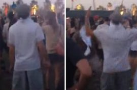 Here's a video of Leonardo Di Caprio dancing at Coachella.
