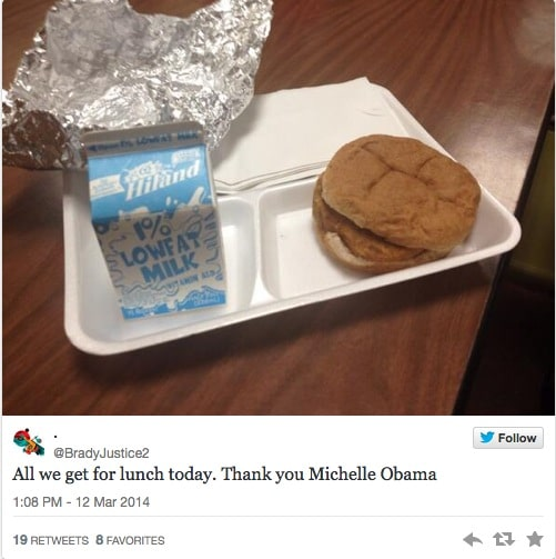 Michelle Obama's healthier school lunches