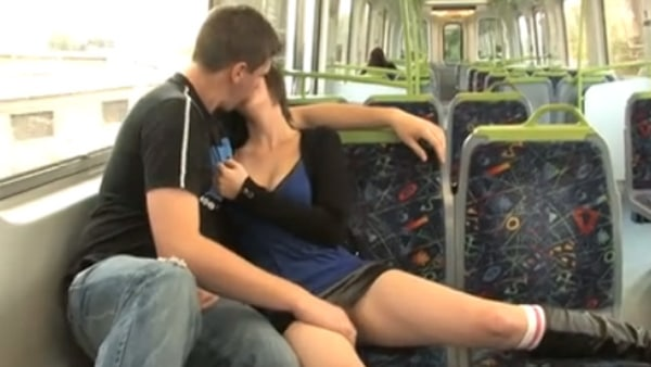Melbourne train couple film sex