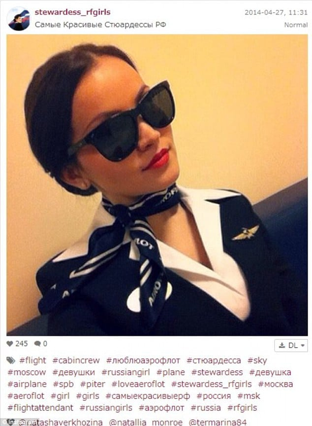Flight attendant selfies