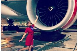 Flight attendant selfies are now the rage.