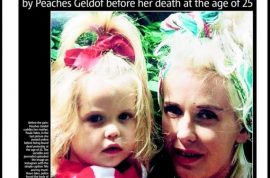Peaches Geldof UK headlines. Are they over the top?