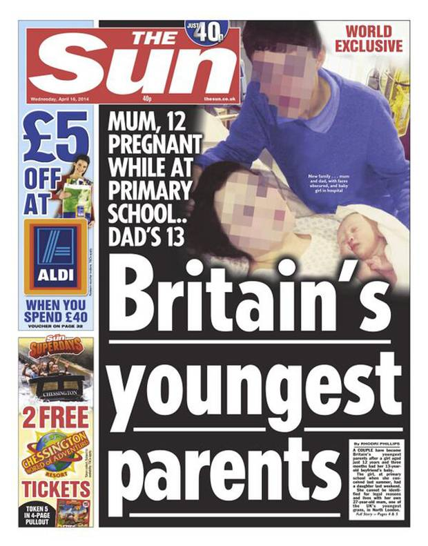 Britain's youngest parents