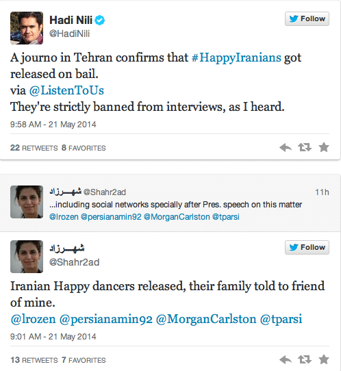 Iranians arrested dancing to Happy