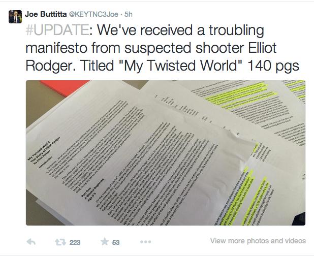 Elliot Rodger manifesto